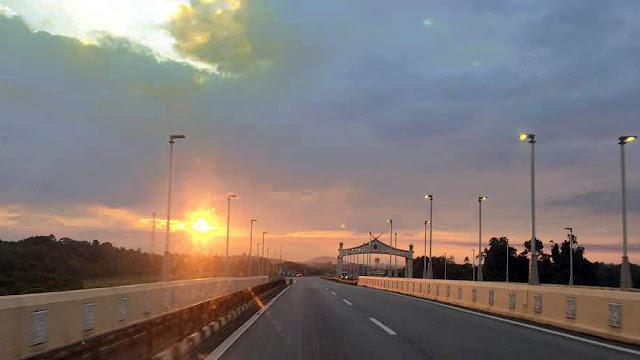 Sun rise at Temerloh Bridge Highway E8