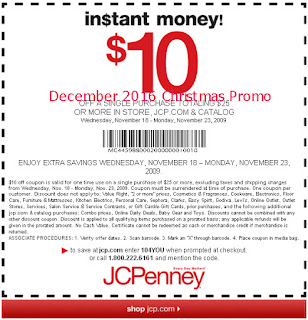 free JcPenney coupons december 2016