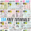 The FULL SET of 150 ONE HUNDRED AND FIFTY How to THINK when you DRAW tutorials! #SkillUpSunday!