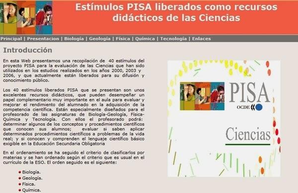 http://recursostic.educacion.es/inee/pisa/ciencias/index.htm