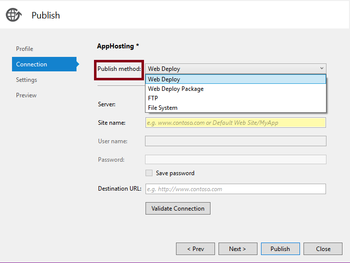 Publishing ASP NET MVC Application Using File System