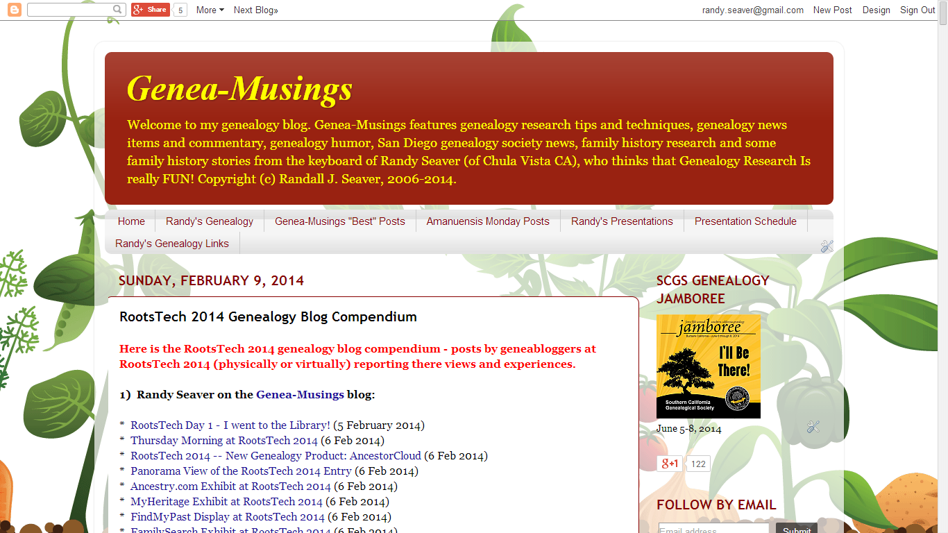 RootsTech 2014 Genealogy Blog Compendium (Last Updated 7 March 2014)
