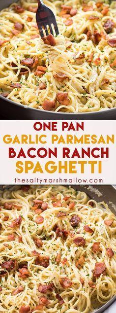 Bacon Ranch Garlic Parmesan Pasta