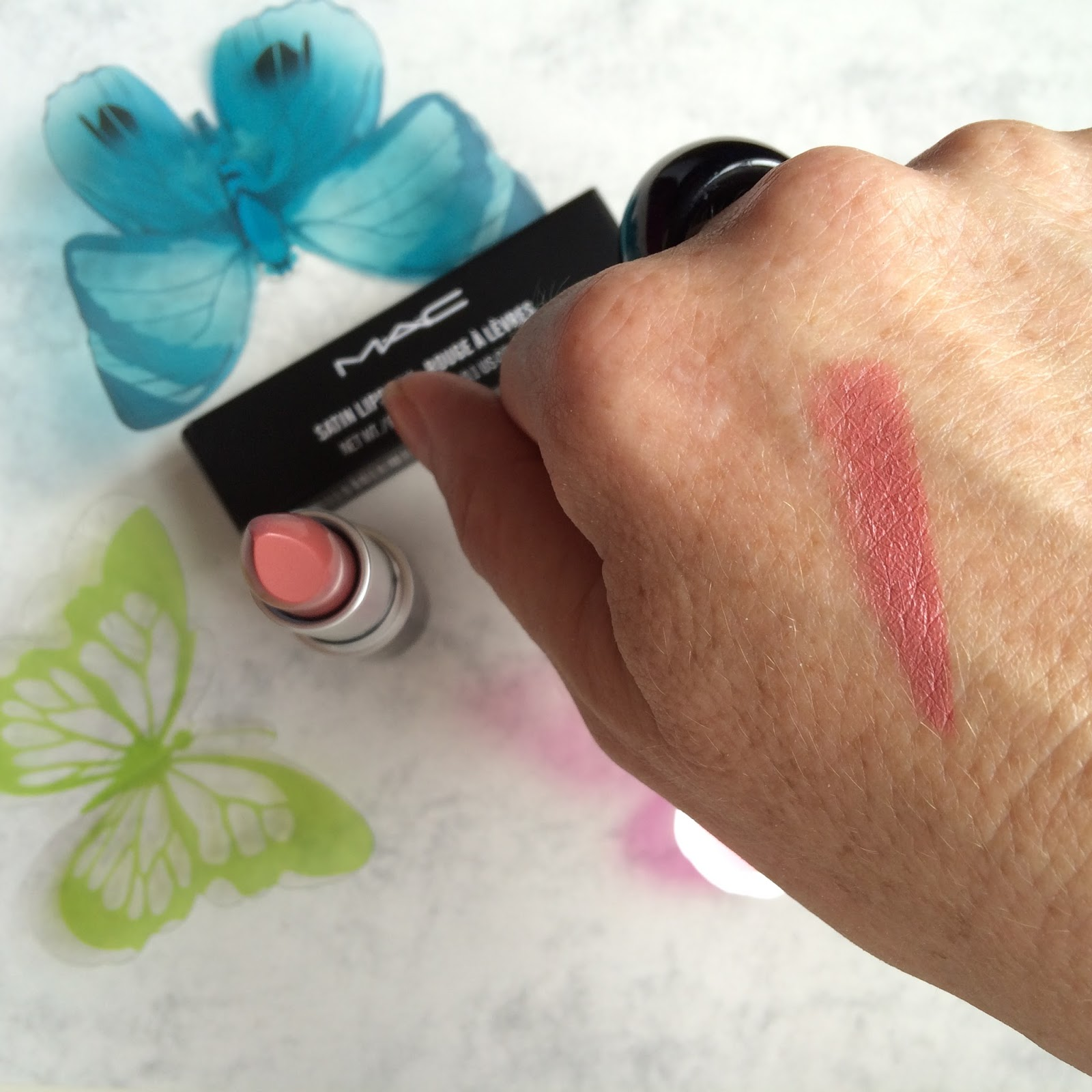 MAC lipstick Brave satin makeup
