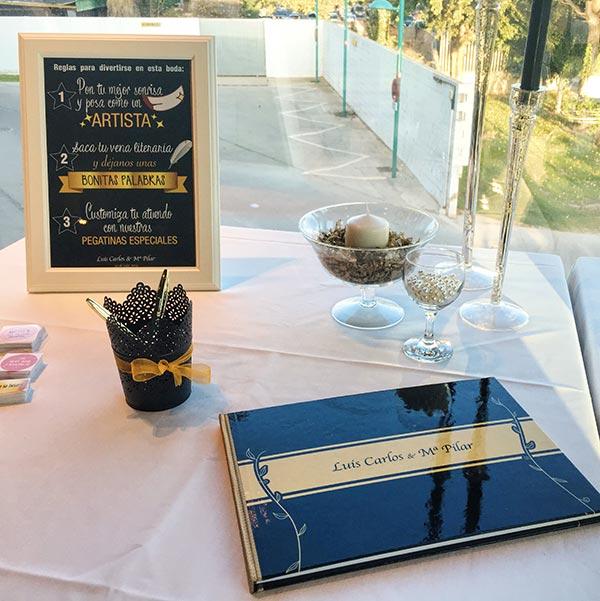 Libro de firmas personalizado para bodas
