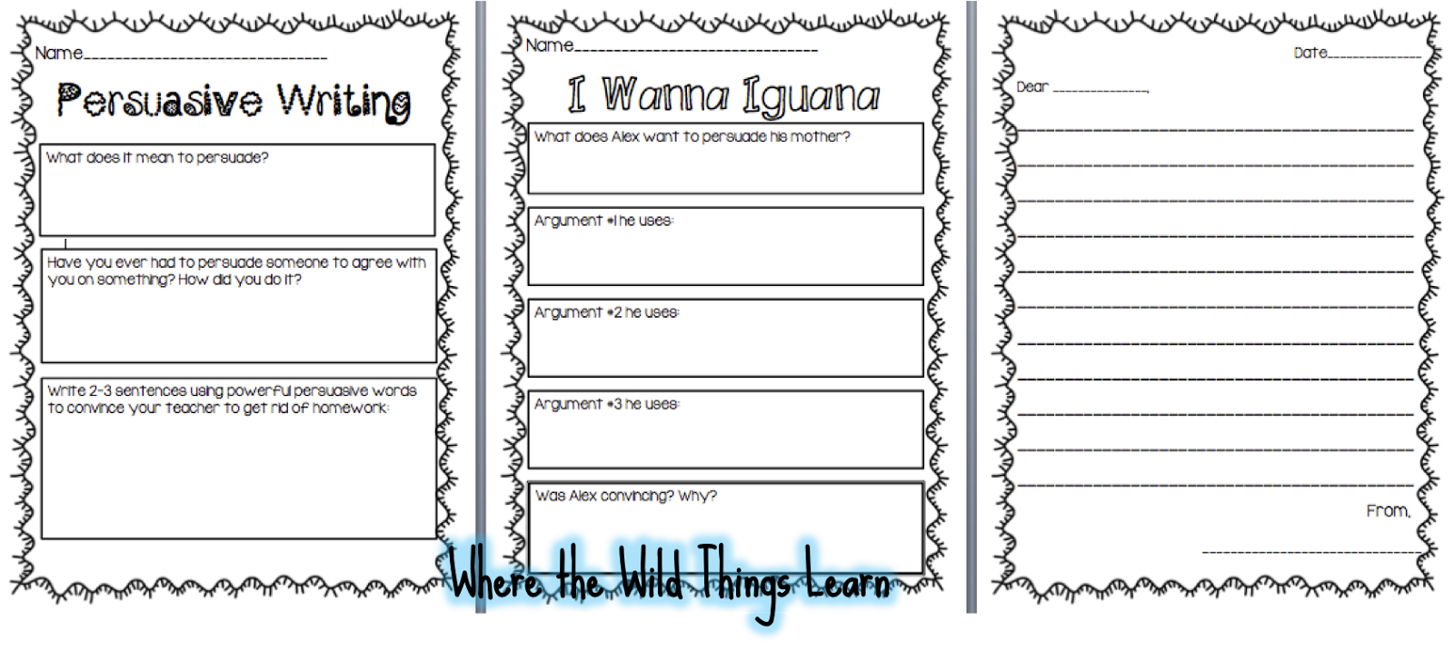 Persuasive writing worksheets grade 5