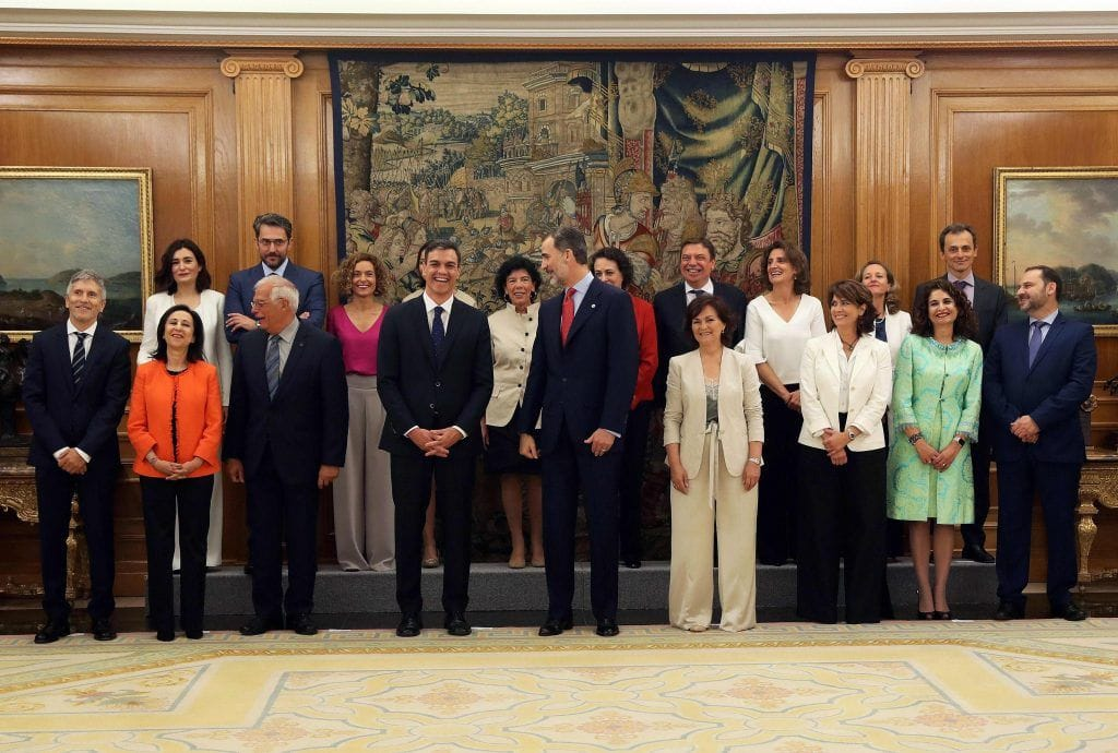 Spain's new cabinet is majority female