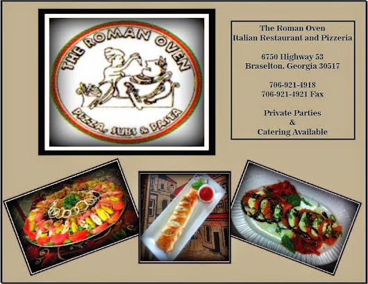 "Welcome ""The Roman Oven"" Braselton, GA"