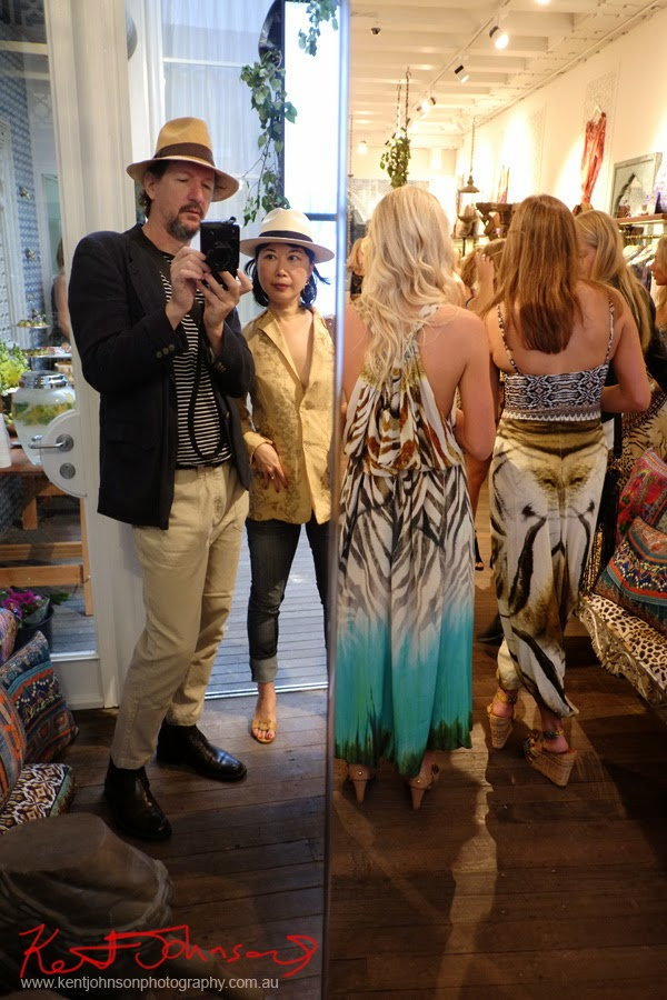 Kent and Vivienne at Camilla's lunch - Style guide and store launch Paddington Sydney - Photographed by Kent Johnson.