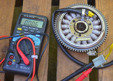 How to test a motorcycle generator alternator stator coils