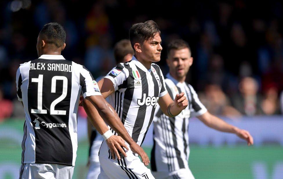Benevento-Juventus: risultato firmato Dybala (3 gol, 2 su rigore) e Douglas Costa, Napoli a +7 in classifica