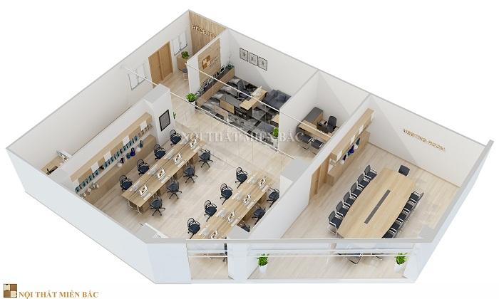 Thiết kế trọn gói nội thất văn phòng đảm bảo tính thống nhất