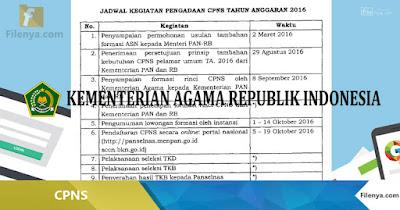 (CPNS) Kementerian Agama Dari Pelamar Umum Tahun 2016