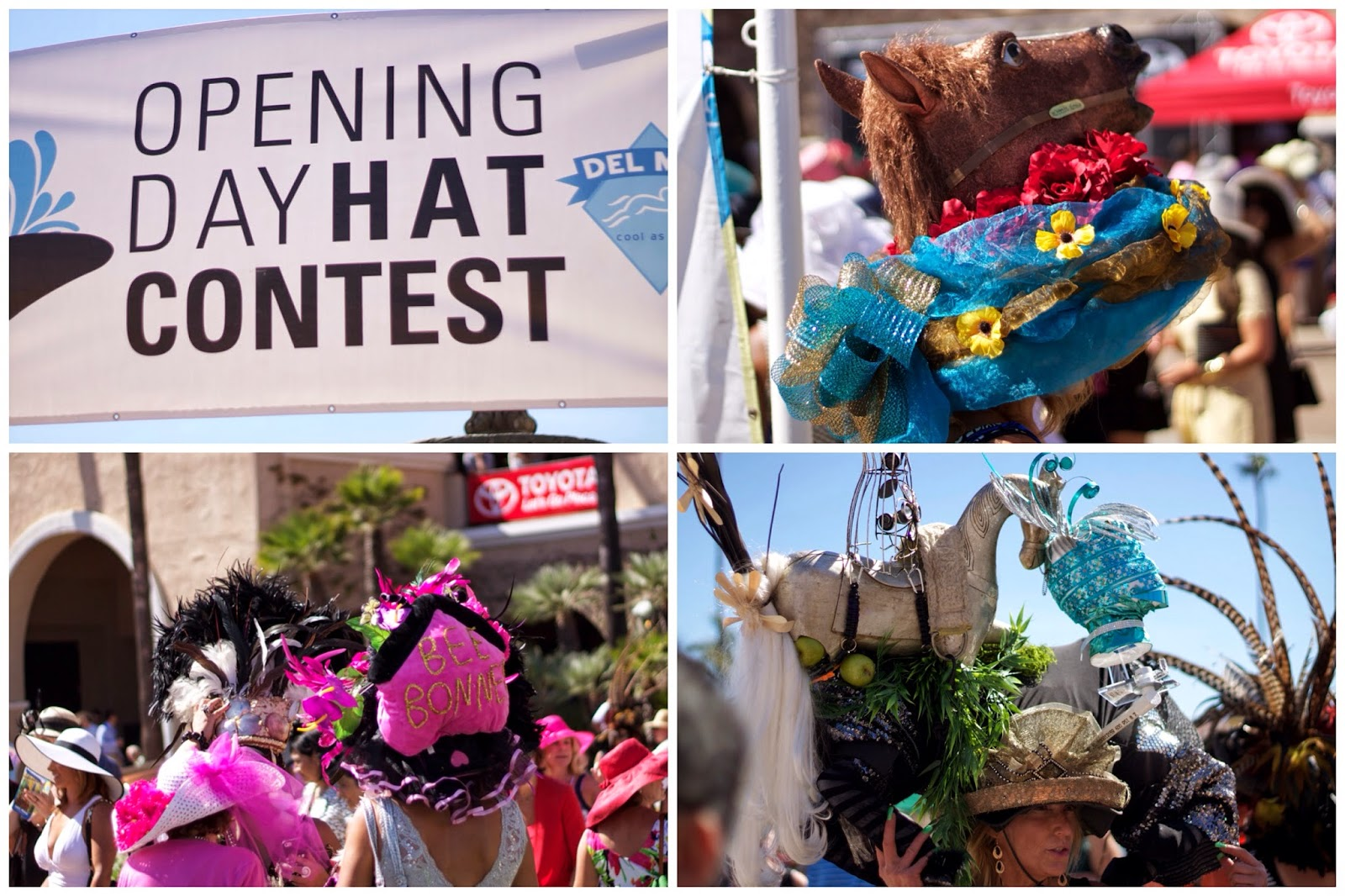 Opening Day Hat Contest 2014, Opening Day Hat Contest San Diego 2014, Opening Day Hat Contest Del Mar, crazy hats, creative hats