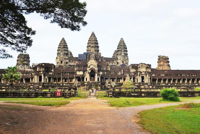 На фото - изображение Храма Анкор Ват