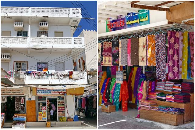 Mutrah, Souk, Wohnhaus, Geschäft, Stoff, Laden