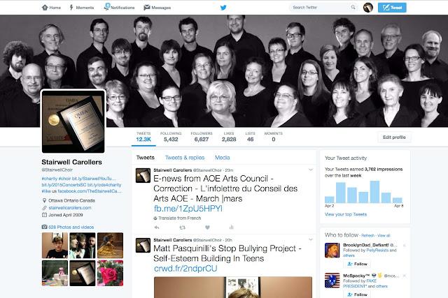 The Stairwell Carollers on Twitter @StairwellChoir