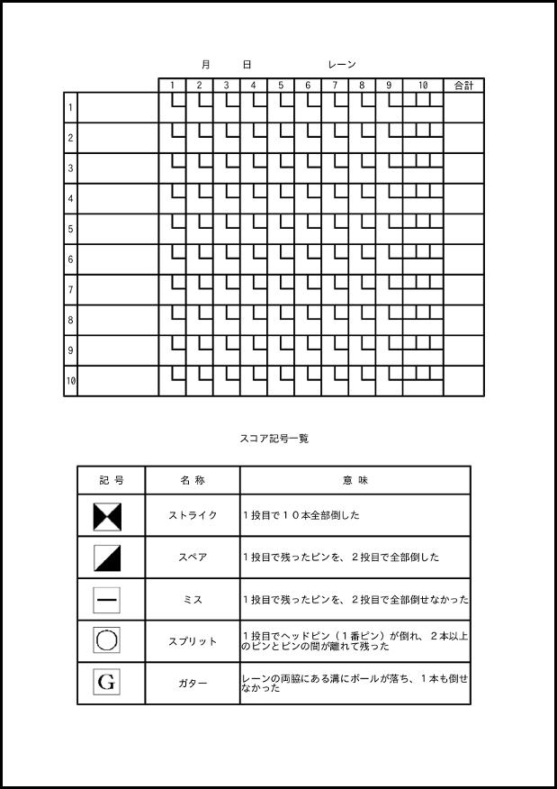ボウリング スコアシート 004_2