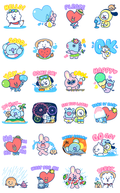 UNIVERSTAR BT21: Summer Time