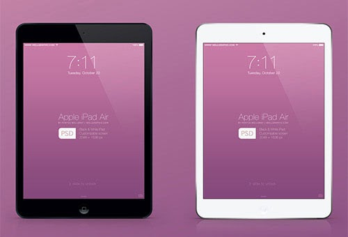 Apple iPad Air mockup