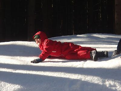 Babia Góra zimą, zabawy na śniegu, ferie zimowe-zakończenie
