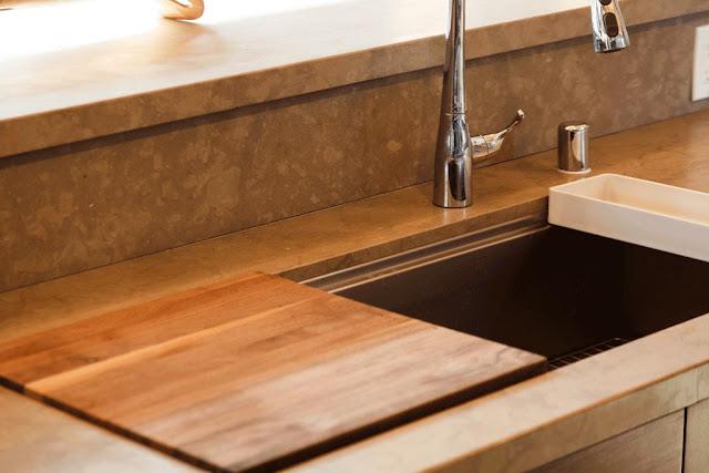 wooden kitchen sink design