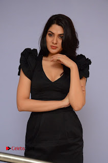 Actress Sakshi Chowdary Pictures in Black Dress at Siddhartha Movie Teaser Launch  0078.JPG