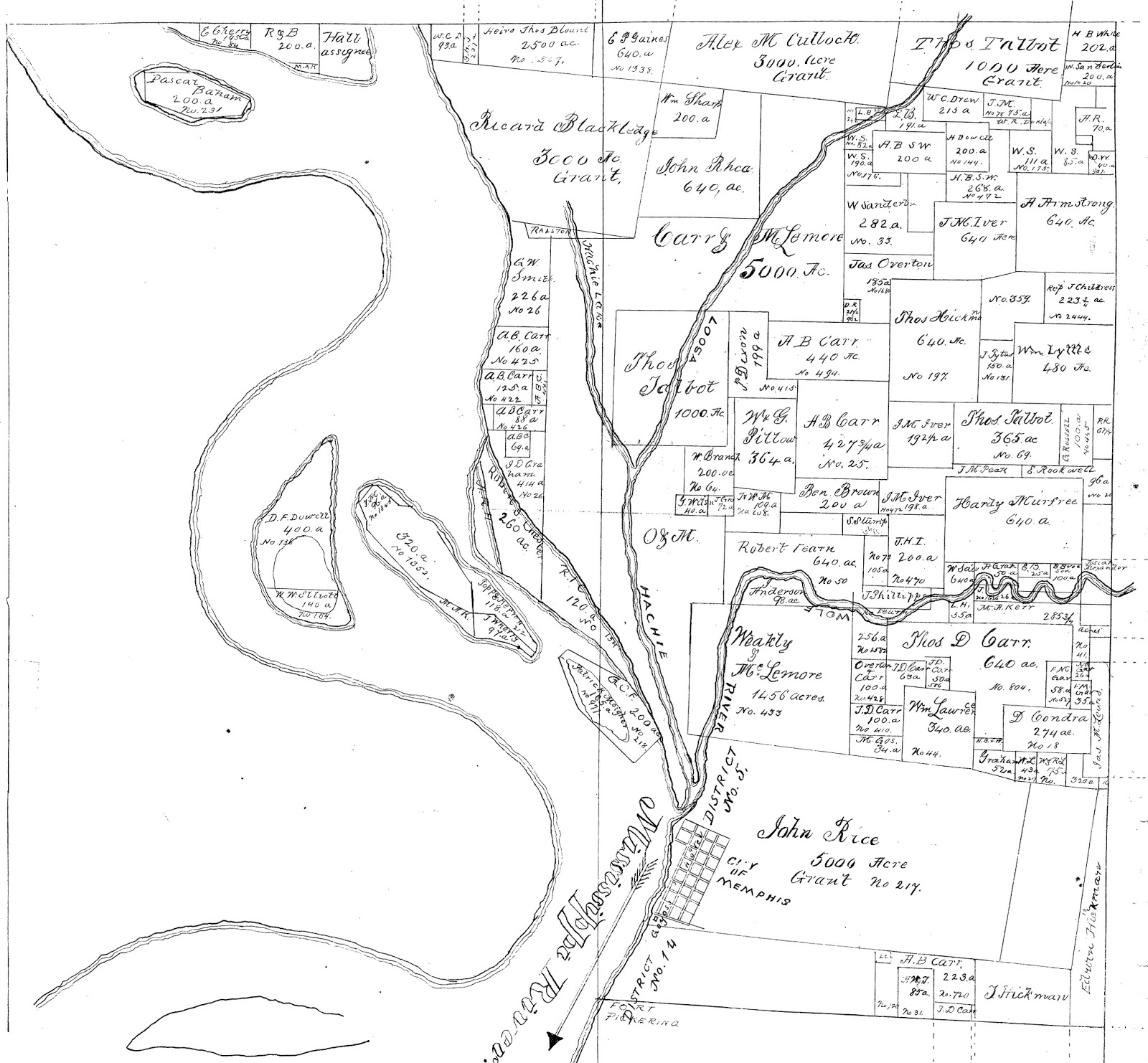 this old property ownership map from 1884 courtesy of the shelby county register of deeds shows an unnamed peninsula now known as