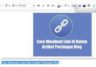 Cara Membuat Link Pada Artikel Postingan Blog