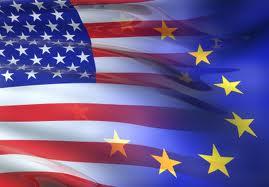 United States Flag Merge with European Union