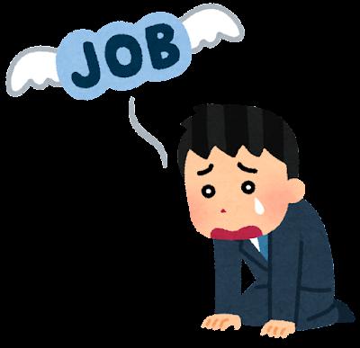 失業のイラスト(男性会社員)