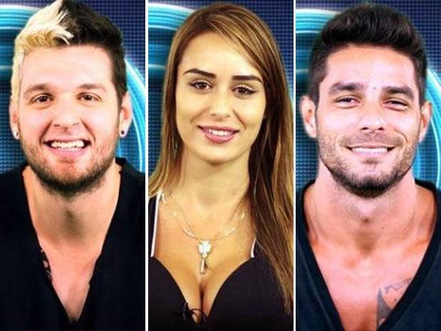 BBB14: Diego, Letícia E Cassio Formam O 9° Paredão
