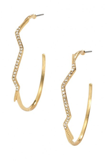 Stella & Dot Lightning Hoops as seen on The Bachelor Women Tell All
