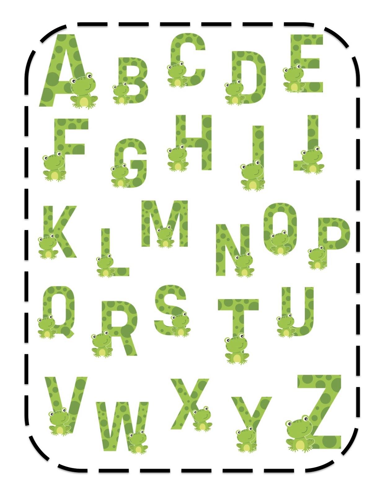 Frog Alphabet Cards