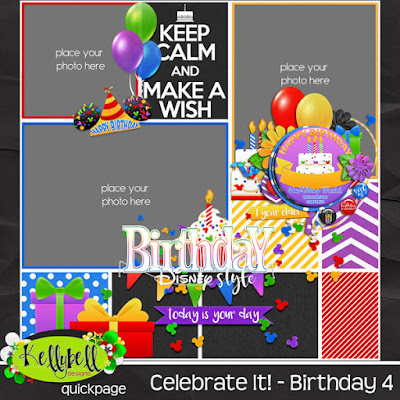 Celebrate It Birthday New From Kellybell Designs FREEBIE