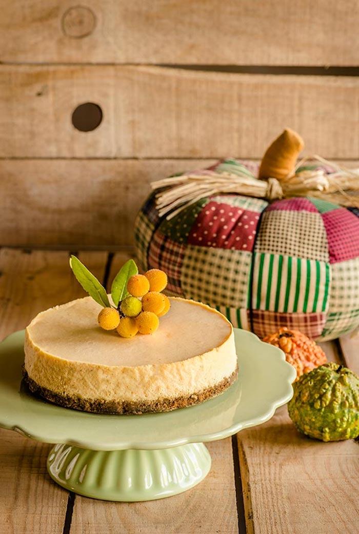 Tarta de queso y calabaza