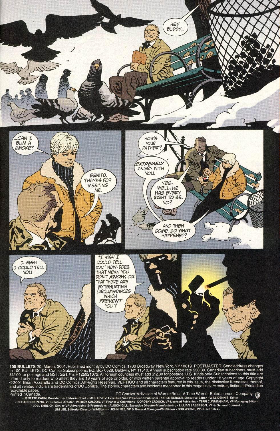 Read online 100 Bullets comic -  Issue #20 - 5