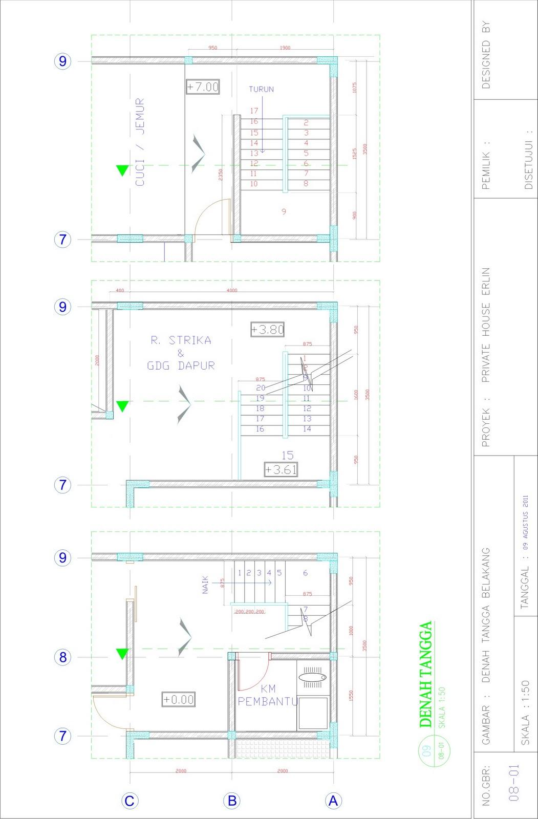 Freelance Drafter  Design Gambar Kerja Rumah Tinggal 3