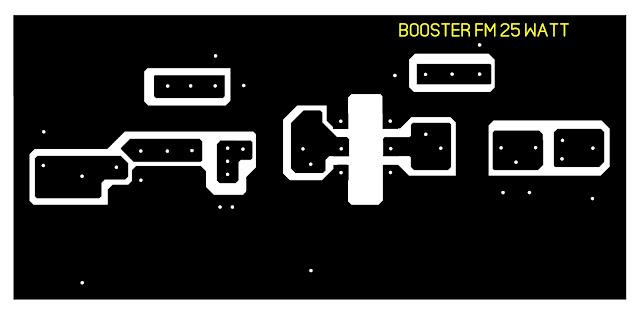Lay Out PCB  Bosster Pemancar FM 25 Watt Untuk Pemancar komunitas