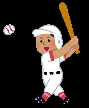 野球選手のイラスト(女性・東南アジア人)