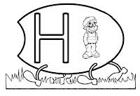Alfabeto centopeia letra H