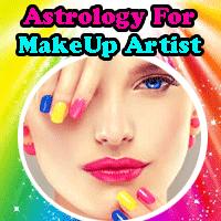 Makeup artist astrology by astrologer Om, free astrology tips for make over artist, stars beneficial for make-up artist.