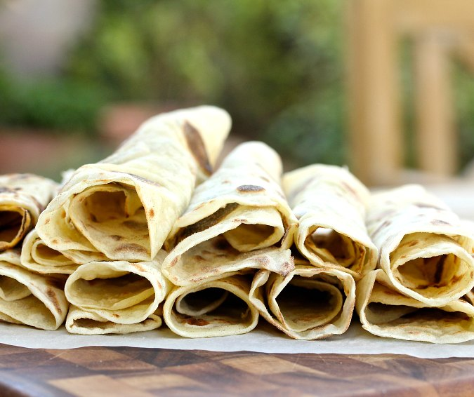 Rolled up potato lefse