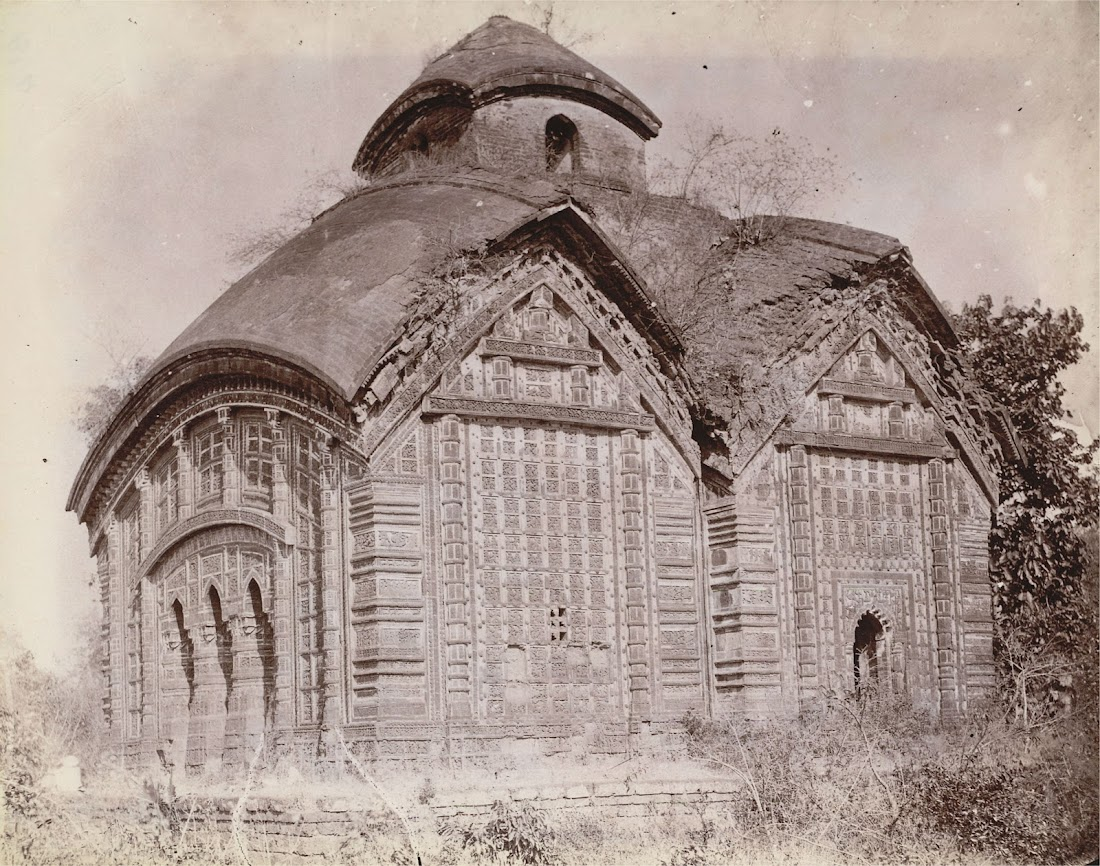 Jorebangla Temple of Keshta Rai in Bishnupur, Bankura District, Bengal - 1872