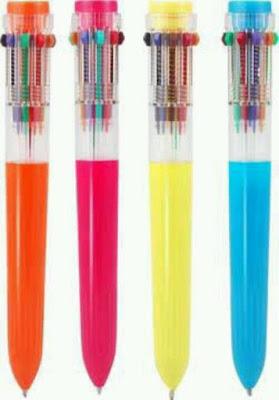 caneta de dez cores