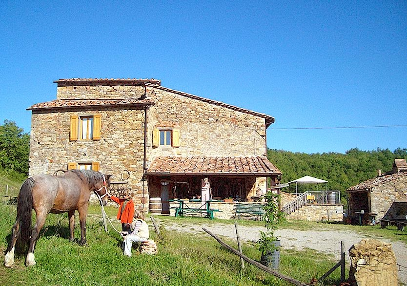 Podere Tegline farm stay in Tuscany