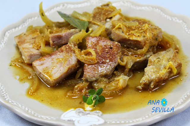 Atún encebollado Ana Sevilla cocina tradicional