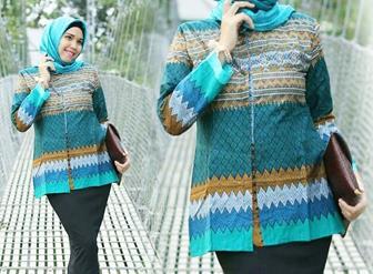 Model Baju Batik Atasan Muslimah Terbaru