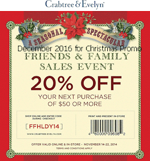 Crabtree & Evelyn coupons for december 2016