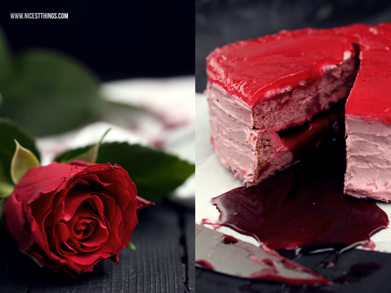 Blutendes Herz Kuchen backen Anleitung